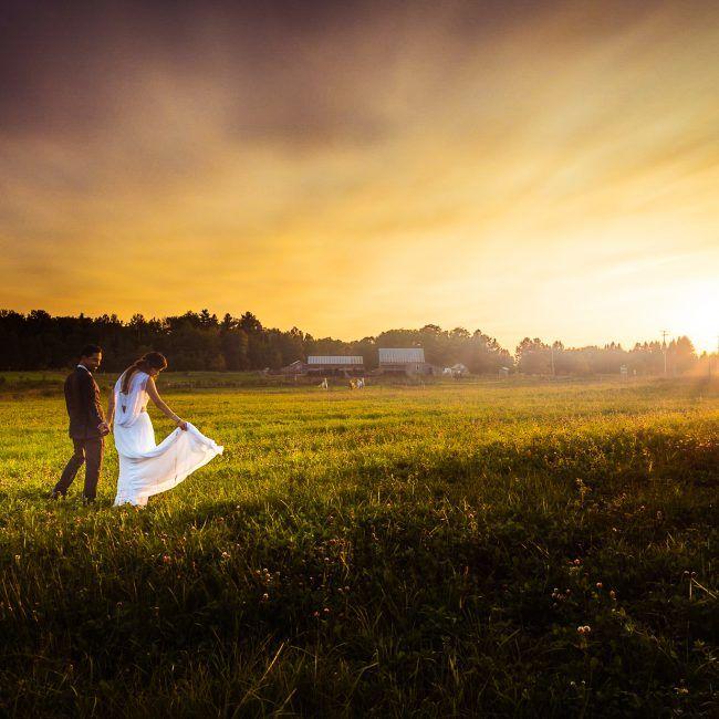 mariage à l'éco-villégiature Le Baluchon