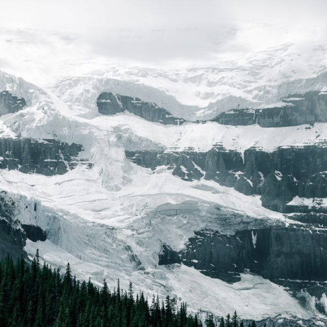 Le glacier Stuttfield vu de loin