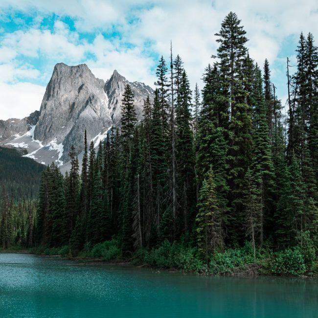 Emerald lake et l'impressionnant Mont Burgess en fond