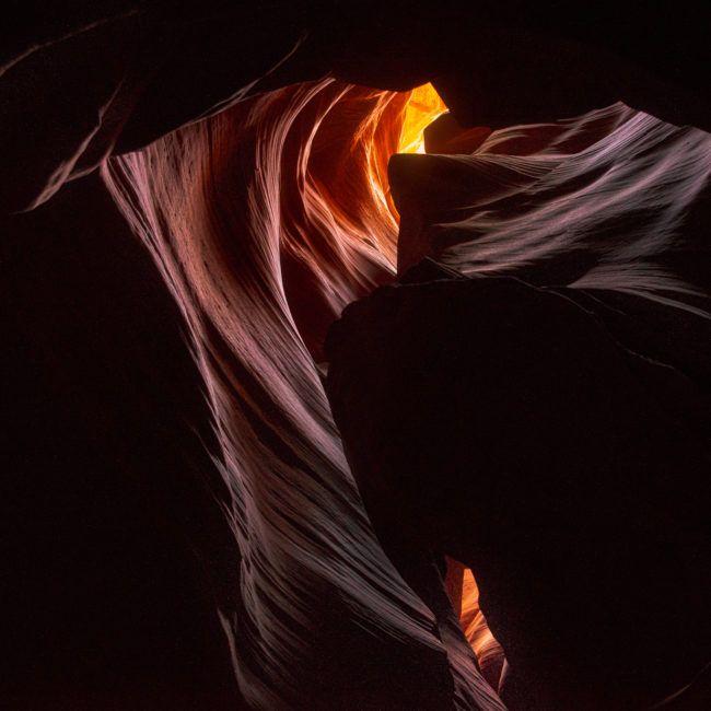 Jeux de lumière à l'intérieur de l'Antelope Canyon